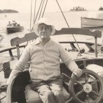 FDR at the wheel of the Amberjack II during his June 1933 sailing trip to Campobello. Current location: Franklin D. Roosevelt Library and Museum