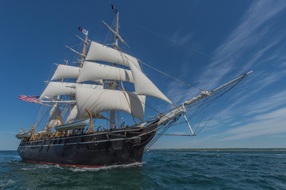 Credit Mystic Seaport -The CHARLES W. MORGAN sailing to Newport on her 38th Voyage on June 15, 2014
