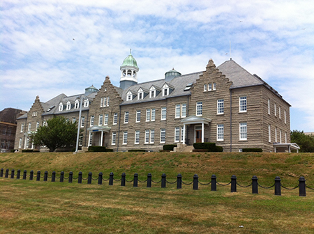 Luce Hall, Building 1, Luce Avenue, Naval Station Newport, Rhode Island. Photograph taken 14 July 2012.