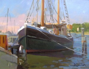 "David Lussier, ""Seaport Morning"", OIL, 11 x 14"