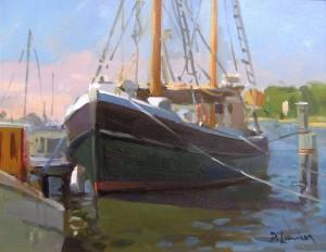 "David Lussier, ""Seaport Morning"", OIL, 11 x 14"