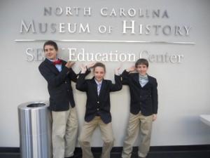 Bryson Bayne, Jordan Jakubielski, and Aaron Tackett. Photo: Annamarie Jakubielski
