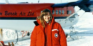 Robin Bell on the west Antarctic ice sheet, 1991