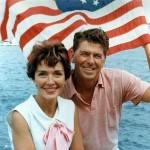 Ronald Reagan and Nancy Reagan aboard a boat in California (1964). Ronald Reagan Presidential Library.