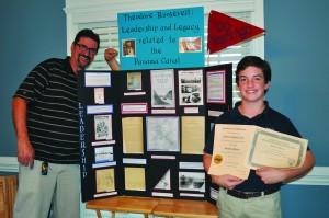 Teacher Joseph Hughes & Matthew Blount i