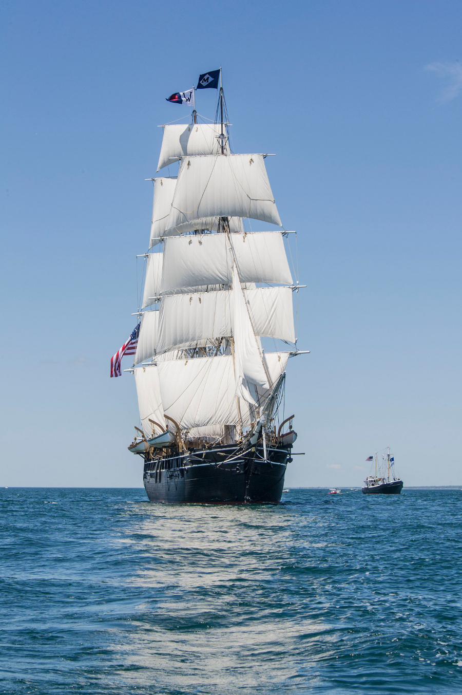 The Charles W. Morgan Sails on Block Island Sound 6-15-14.  CREDIT: Mystic Seaport