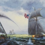 U.S. Gunboat SCORPION in the Battle of Cedar Point, 1814