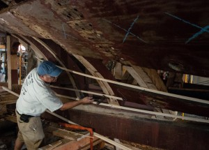 Project leader Walter Ansel. photo: Andy Price/Mystic Seaport