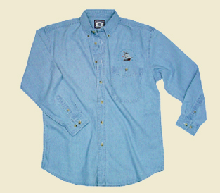 Denim Shirt embroidered (unisex)