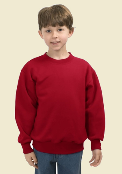 Hanes 50/50 Fleece Crew (youth)