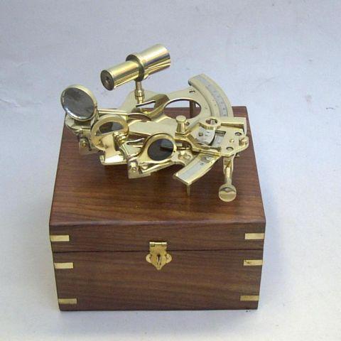 "6"" Brass Sextant"