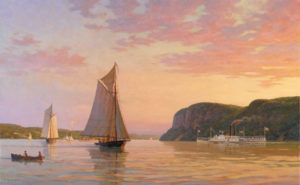 Evening on the Hudson, 1862 by William G. Muller