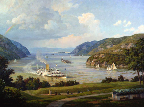 Hudson River view from West Point, N.Y. in 1915 by William G. Muller