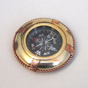 "2 3/4"" Brass & Copper Lifebuoy Compass"