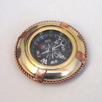 """2 3/4"""" Brass & Copper Lifebuoy Compass"""