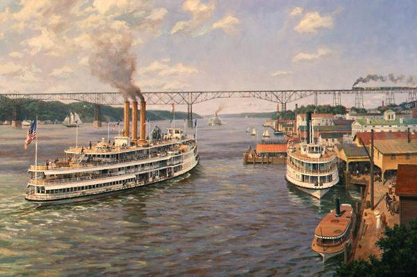 Poughkeepsie Landing, 1910 by William G. Muller