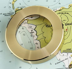 Brass Chart Magnifier Weight by Weems & Plath