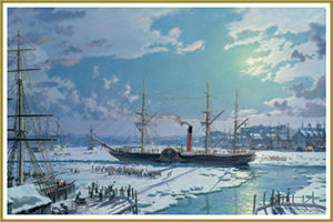 "Holiday Cards ""RMS Britannia"" by John Stobart"