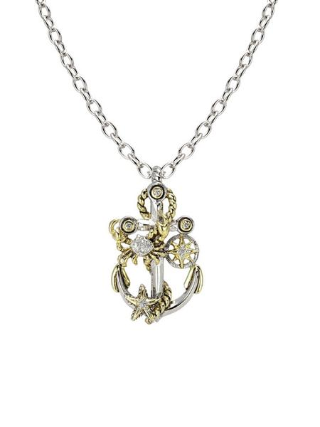 Seaside Treasure Anchor Slider with Chain