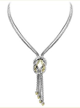 "Anvil Knot Necklace 17"""