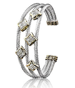 Falling Stars Triple Wire Five Star Bracelet