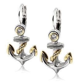 Seaside Anchor Fishwire Earrings