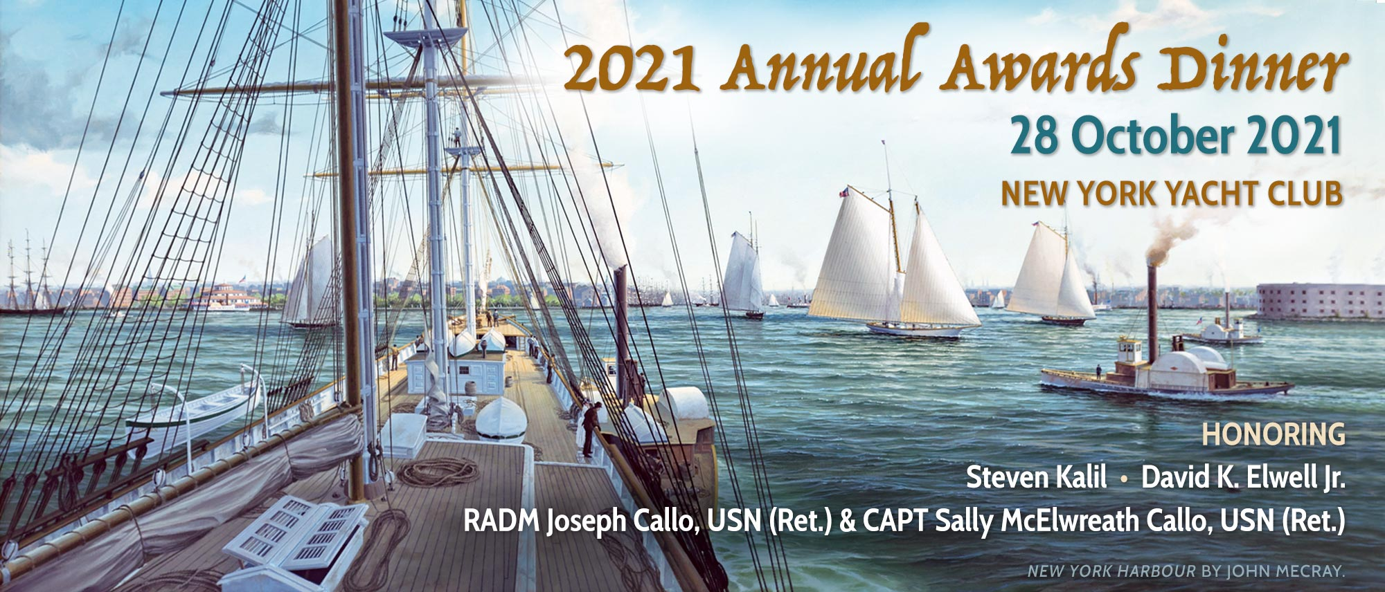 2021 Annual Awards Dinner at the New York Yacht Club 28 October