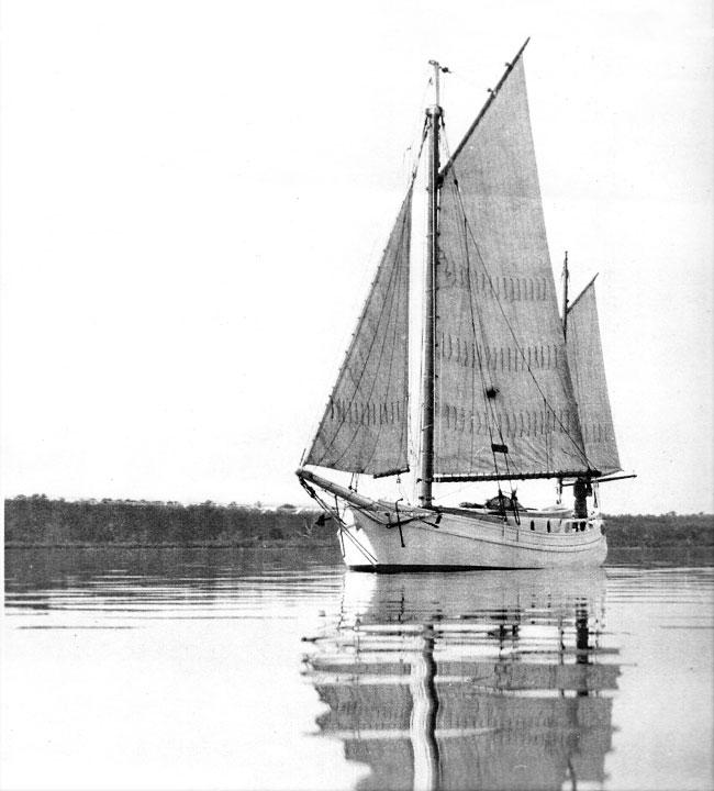 black and white photo of sailboat
