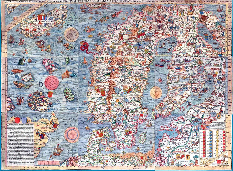 Carta Marina Scandinavian Marine Map