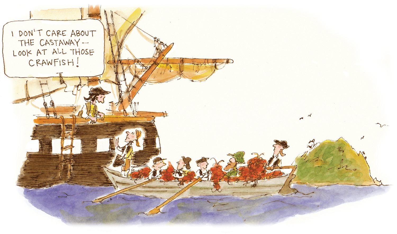 Crawfish Rogers Cartoon