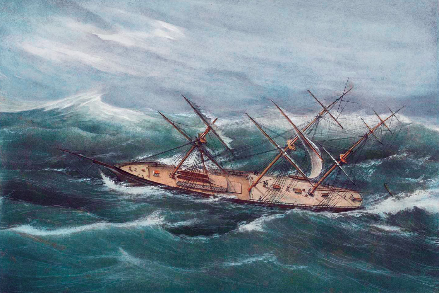 Currier and Ives Clipper Hurricane