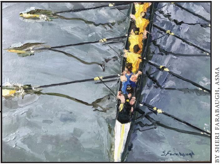Crew Practice Oil Painting