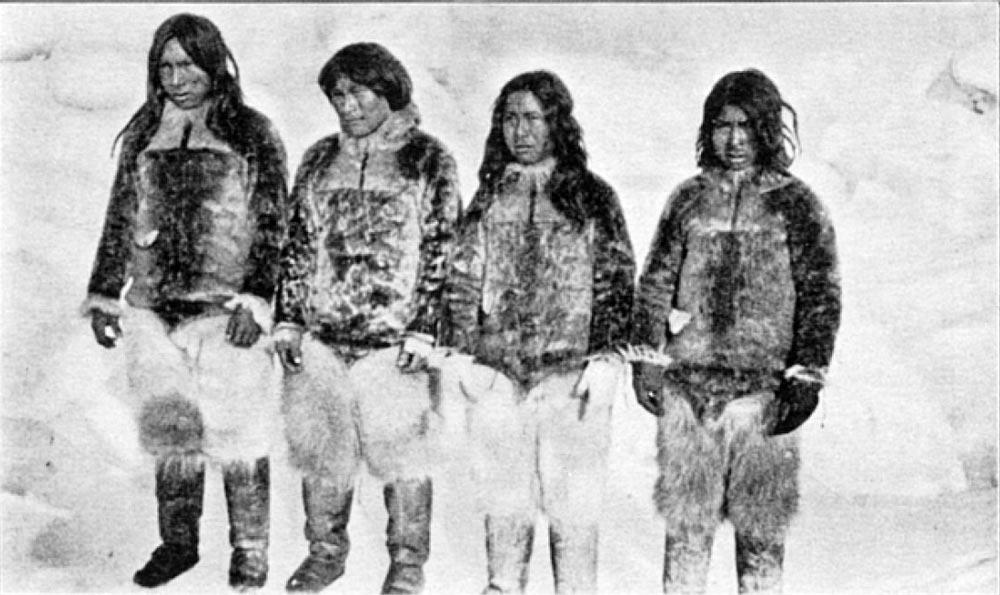 four inuit crew members