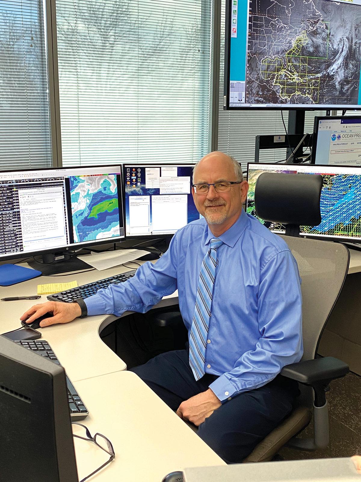 Joe Sienkiewicz at his Desk