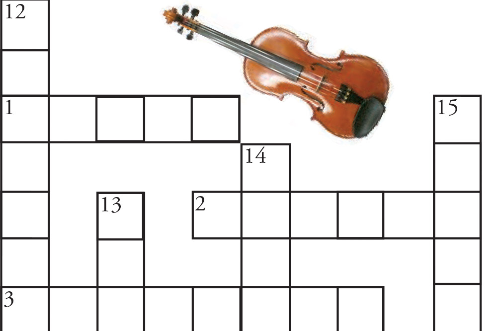 KIDS 122 41 Crossword Violin