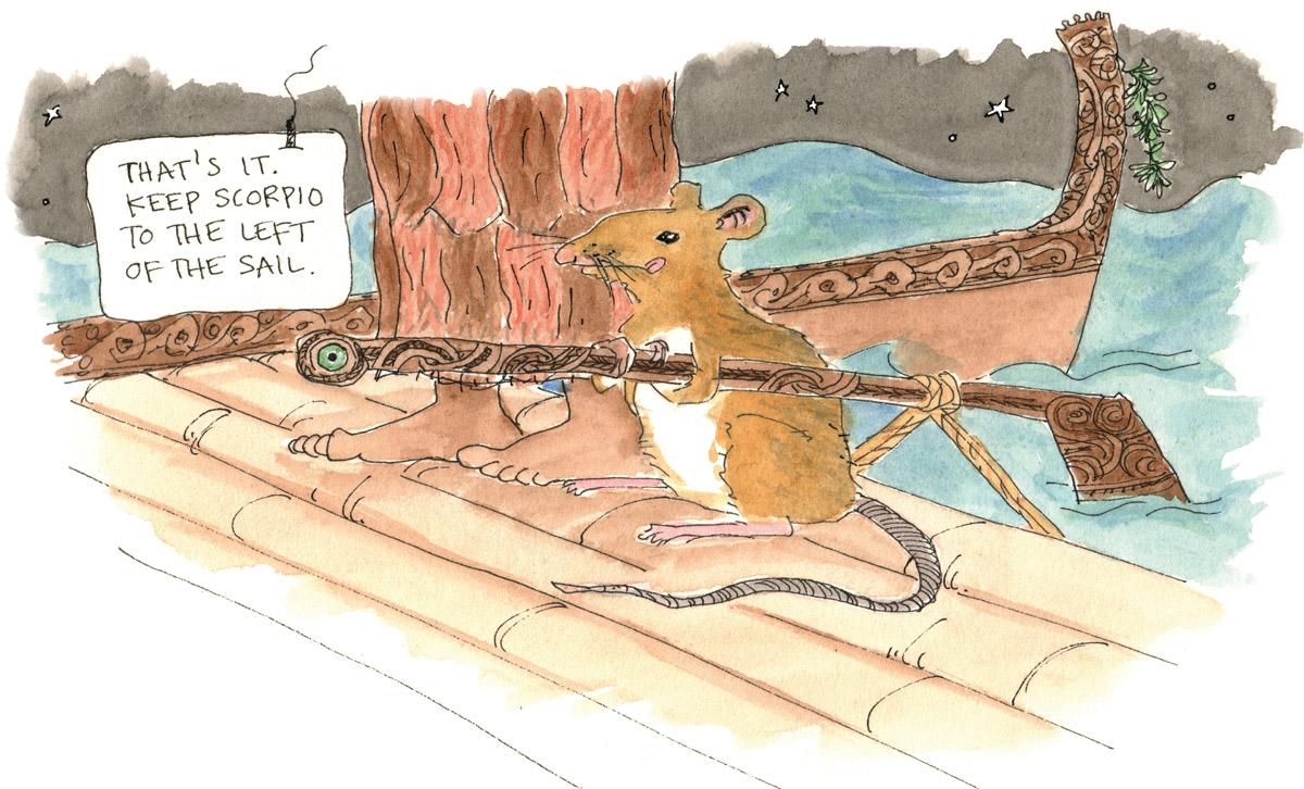 Kiore Rat Sailing Cartoon