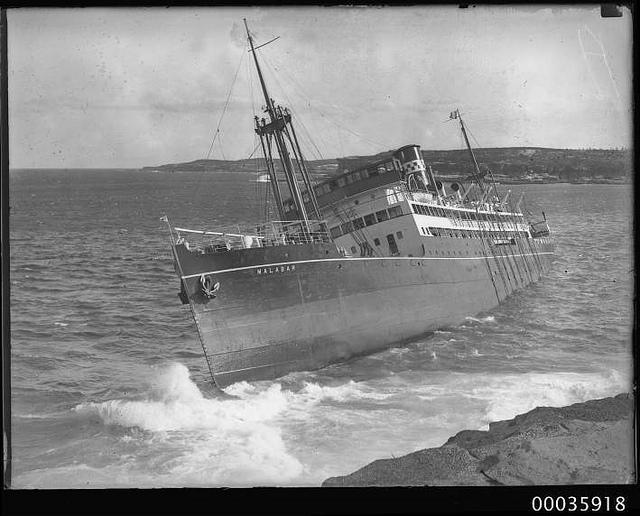 MV MALABAR Grounded Off Long Bay