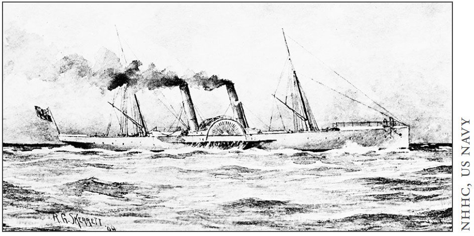 A drawing from the American Society of Marine Artists exhibition