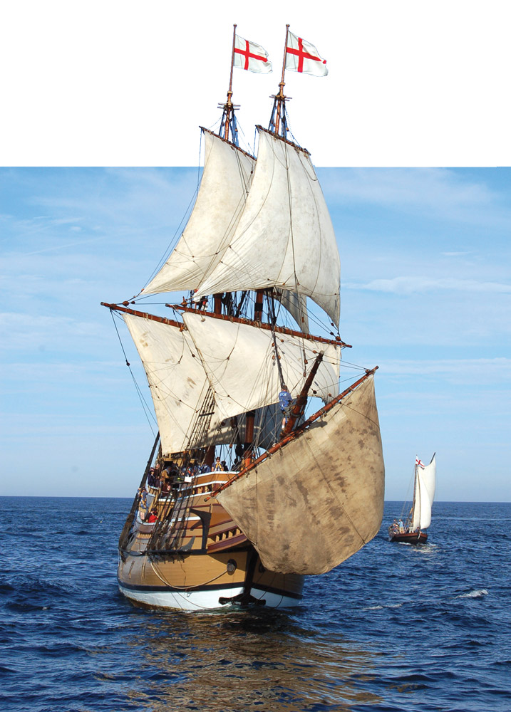 Mayflower II At Sail