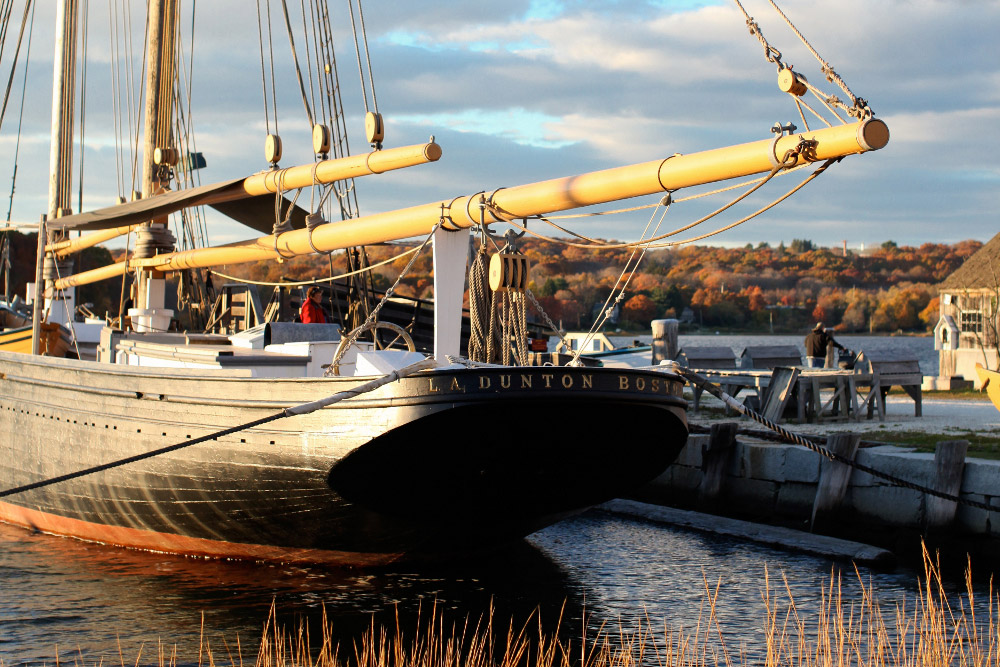 NMH Grant Recipient Mystic Seaport's Fishing Schooner L.A. DUNTON