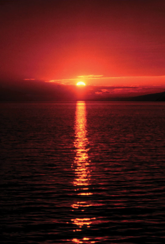 NOAA Weather Red Sunset
