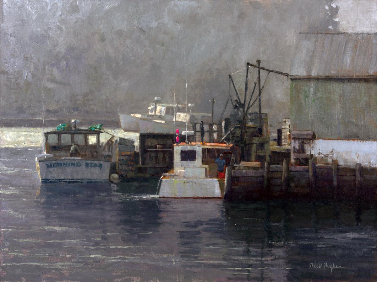 Port Clyde Mist 18x24