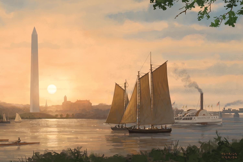 Potomac River Reverie Washington, DC In 1890, By Patrick O'Brien Post