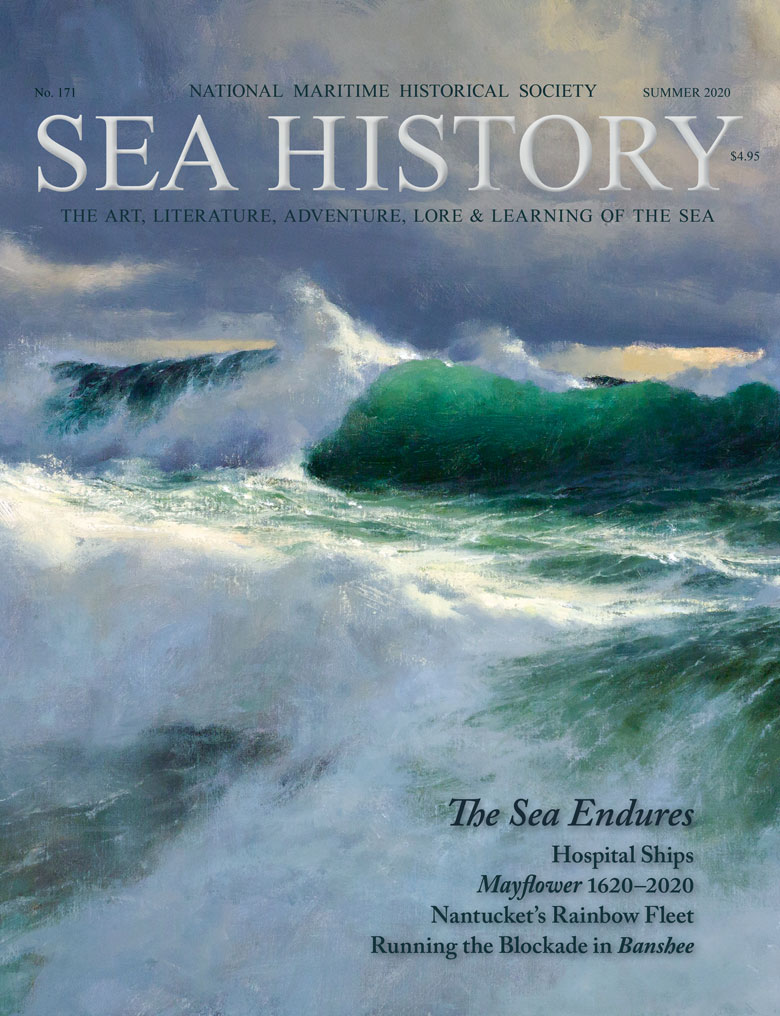 Sea History 171 cover of crashing waves