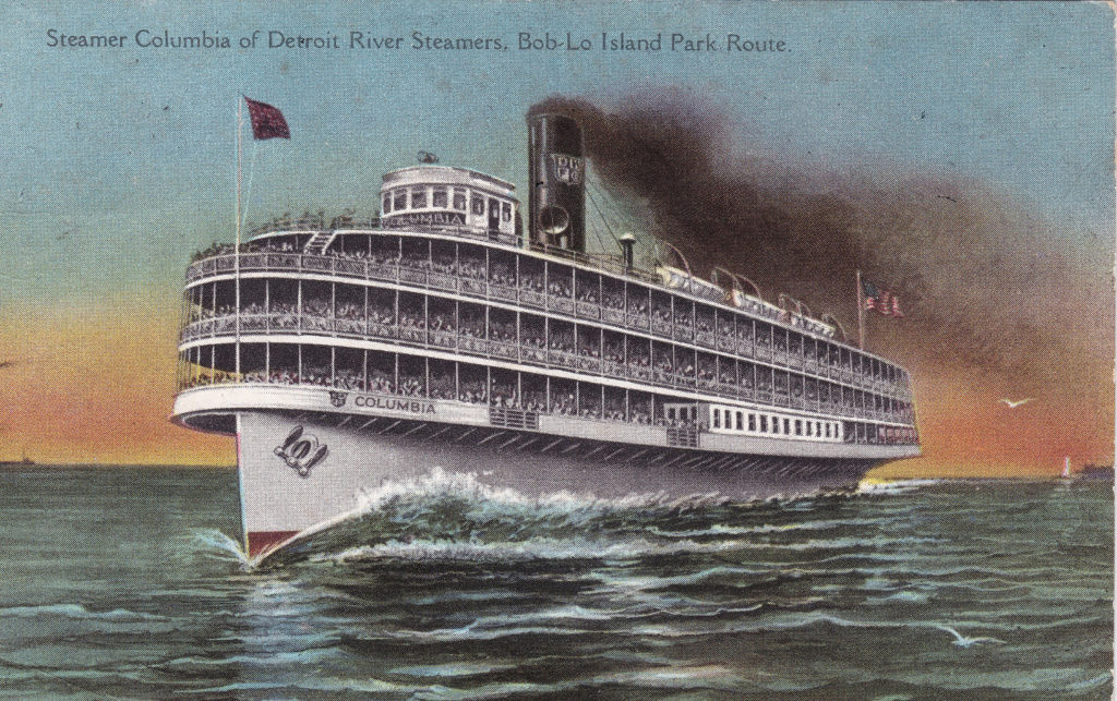 SS Columbia Postcard