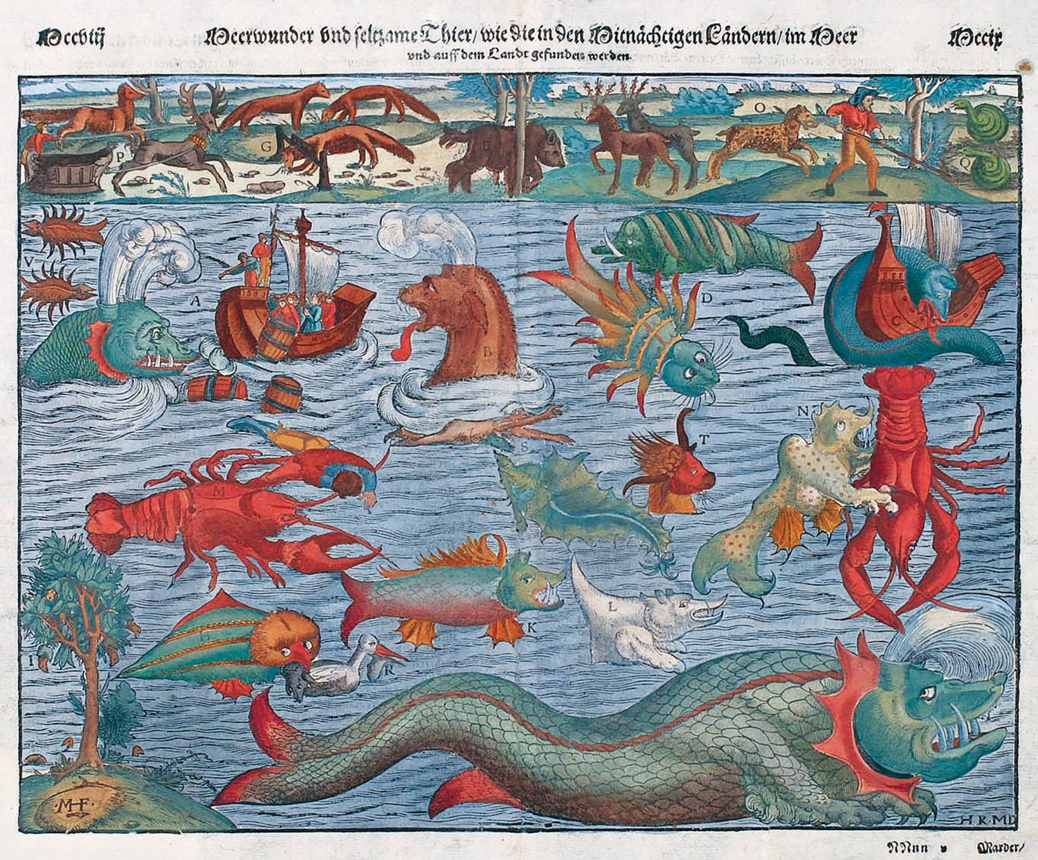 Sea Monster Old Map