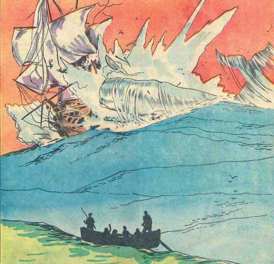 Sea History Sink Ship Classic Comic