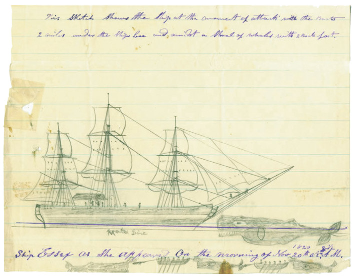 Drawing of the Ship Essex