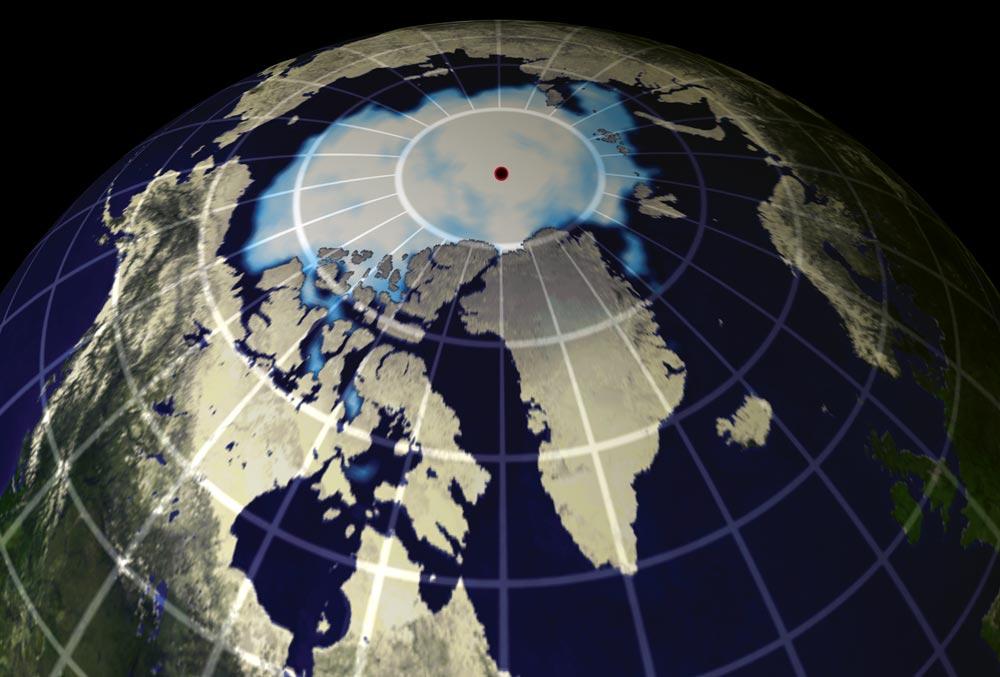 ice on the north pole