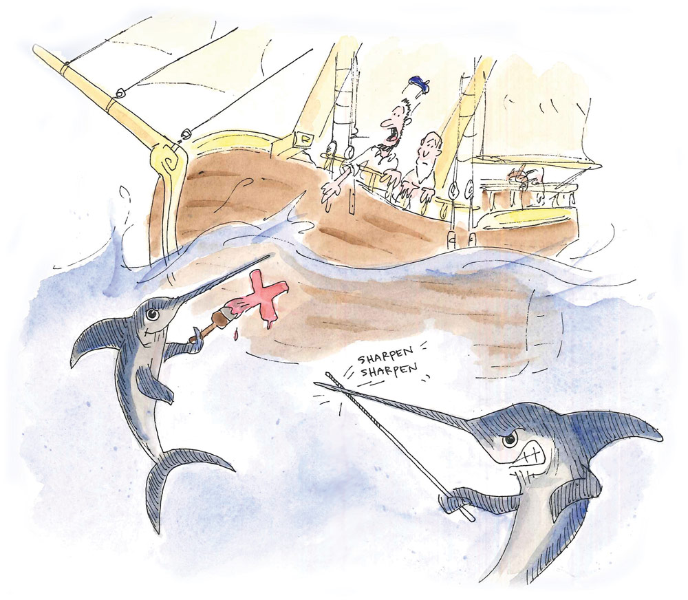 Swordfish Cartoon